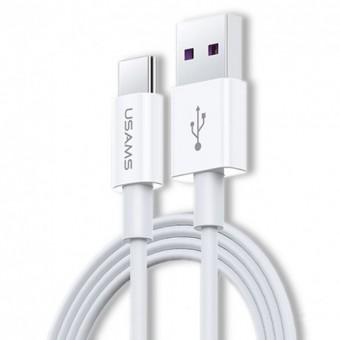 Кабель синхронизации Usams USB Type-C быстрая зарядка для HUAWEI и OPPO 1.2m 5A серый (US-SJ408-GR)