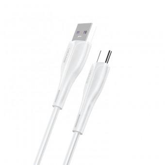 Кабель синхронизации Usams USB Type-C быстрая зарядка для HUAWEI и OPPO 1m 5A белый (US-SJ376-WT)
