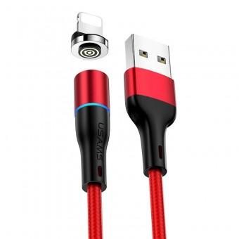 Магнитный кабель синхронизации Usams iPhone 1m 2.4A 360° красный (US-SJ352-RD)