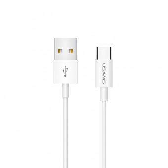 Кабель синхронизации Usams USB Type-C 1m 2A белый (US-SJ285-WT)