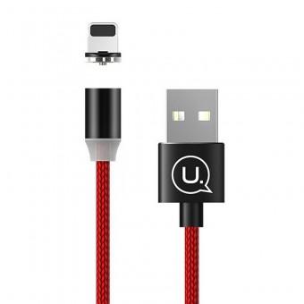 Магнитный кабель для зарядки Usams iPhone 1m 2.1A 360° красный (US-SJ292-RD)