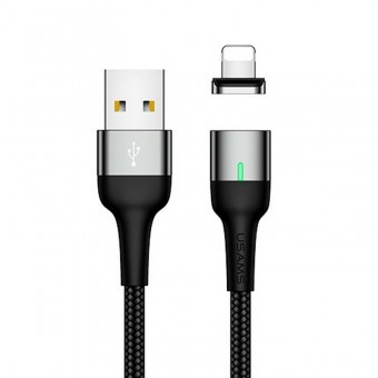 Магнитный кабель синхронизации Usams iPhone 1m 2.1A серый (US-SJ326-GR)