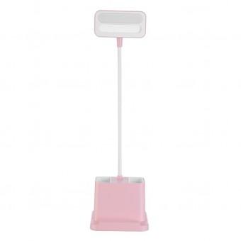Настольная светодиодная лампа Usams c аккумулятором 1200mah розовая (LPKT1200R)