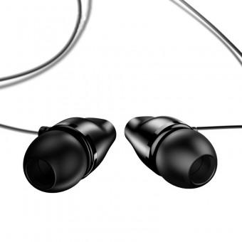 Наушники Usams Hi-Fi Stereo проводные с микрофоном 3,5 мм черные (EP-36-BL)