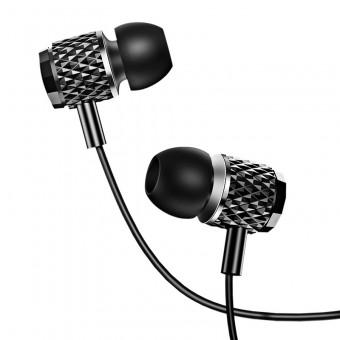 Наушники Usams проводные с микрофоном 3,5 мм черные (EP-38-BL)
