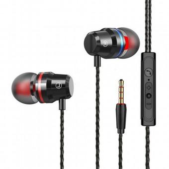 Наушники TOPK Bass Sport проводные с микрофоном 3,5 мм черные (TKF16-BL)