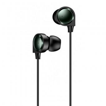 Наушники Usams Hi-Fi Bass проводные с микрофоном 3,5 мм черные (EP-40-BL)