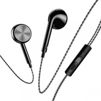Наушники Usams In-Ear Stereo проводные с микрофоном 3,5 мм черные (EP-20-BL)