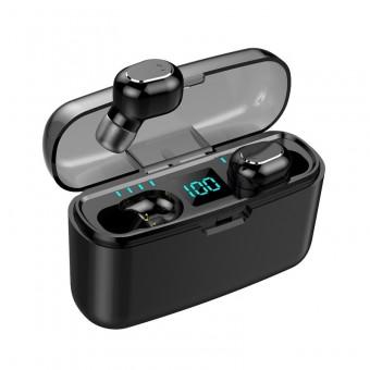 Наушники беспроводные вакуумные TOPK HiFi TWS 5.0 Bluetooth 1200 мАч с функцией Handsfree черные (TKF24-BL)
