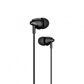 Наушники Usams проводные с микрофоном 3,5 мм черные (EP-39-BL)