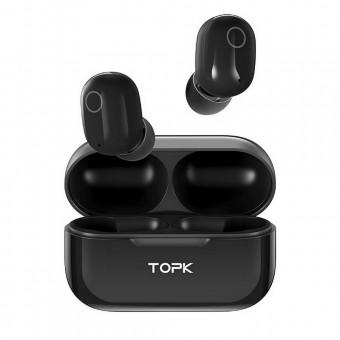 Наушники беспроводные вакуумные TOPK Mini TWS 3D stereo, 5.0 Bluetooth с функцией Handsfree черные (TKT12-BL)