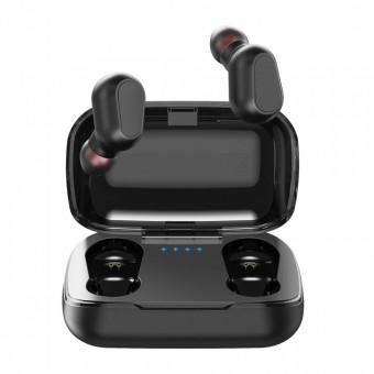 Наушники беспроводные вакуумные TOPK Mini TWS 5.0 Bluetooth с функцией Handsfree черные (TKF22-BL)