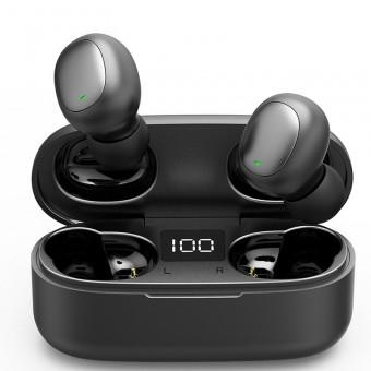 Наушники беспроводные вакуумные TOPK Mini TWS 5.0 Bluetooth с функцией Handsfree черные (TKF28-BL)