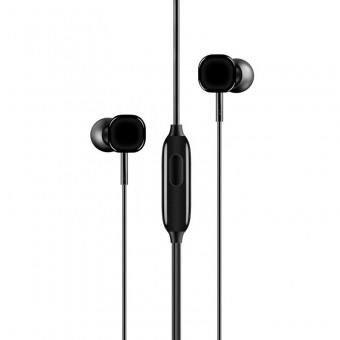 Наушники Usams Super Bass проводные с микрофоном 3,5 мм черные (EP-21-BL)