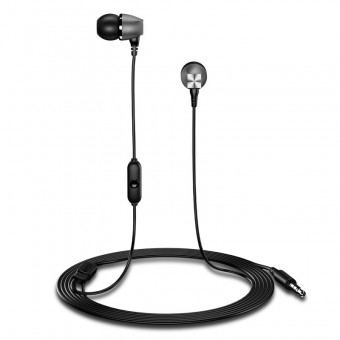 Наушники Usams Hi-Fi Bass проводные с микрофоном 3,5 мм черные (EP-19-BL)