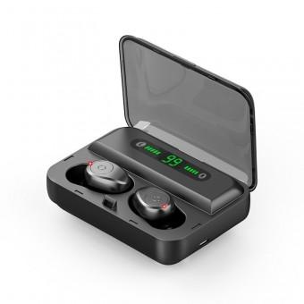 Наушники беспроводные вакуумные TOPK HiFi TWS 5.0 Bluetooth 1200 мАч с функцией Handsfree черные (TKF30-BL)
