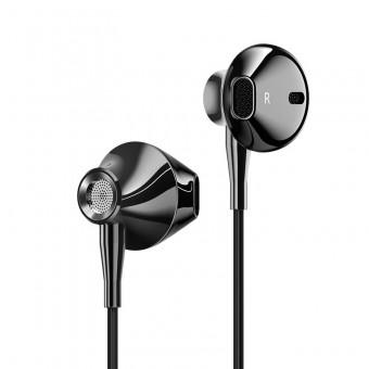 Наушники Usams Hi-Fi Bass проводные с микрофоном 3,5 мм черные (EP-29-BL)