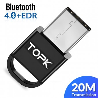 Bluetooth-адаптер Topk Bluetooth 4.0 c EDR черный (TKL06-BL)