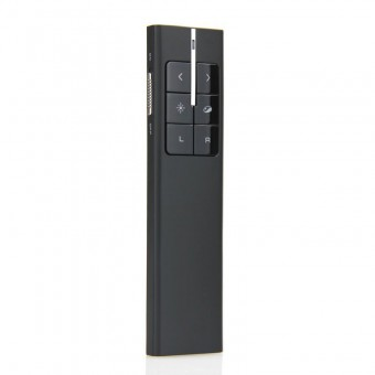 Презентер профессиональный с лазерной указкой Knorvay, управление мышью, маркировка нужной области на экране, черный (KN99-BL)