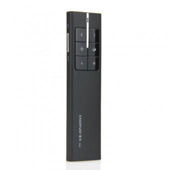 Презентер профессиональный с лазерной указкой Knorvay, управление мышью, маркировка нужной области на экране, черный (KN89-BL)