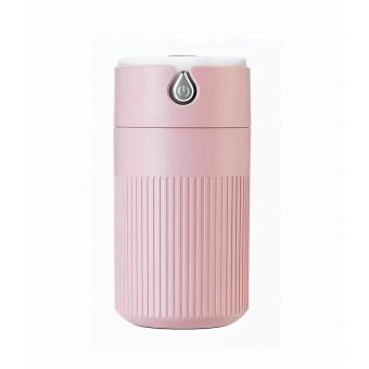 Увлажнитель воздуха ароматизатор с подсветкой Usams Humidifier 420 мл micro USB ультразвуковой розовый (UKH1200P)