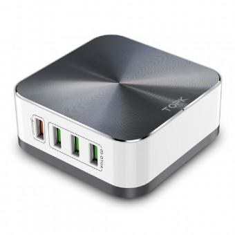Сетевое зарядное устройство Topk Qualcomm Quick Charge 3.0 50W 8xUSB Grey стационарное (TK829Q-GR)