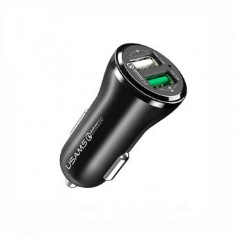 Автомобильное зарядное устройство Usams Quick Charge 3.0 18W 2xUSB Black (US-CC028-BL)