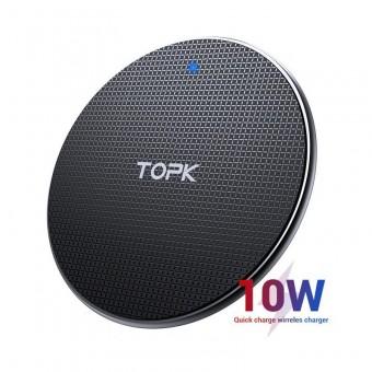 Беспроводное зарядное устройство Topk 10W Black QI Quick Charge (TK01W-BL)
