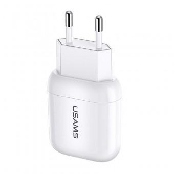 Сетевое зарядное устройство Usams 5V 2.1A USB White (US-CC078-WT)