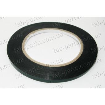 Двухсторонний скотч , черный, ширина 2 мм, толщина 0.5 мм