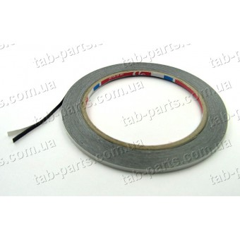 Двухсторонний скотч, ширина 2 мм, толщина 0.3 мм